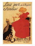 Paris  France - Vingeanne Milk Girl with Cats Advertisement Poster