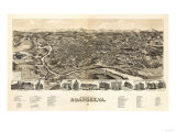 Roanoke  Virginia - Panoramic Map