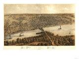 Peoria  Illinois - Panoramic Map