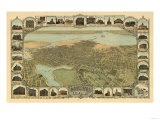 Oakland  California - Panoramic Map