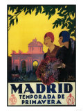 Madrid  Spain - Madrid in Springtime Travel Promotional Poster