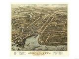 Plattsburgh  New York - Panoramic Map