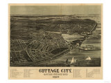 Martha&#39;s Vineyard  Massachusetts - Panoramic Map