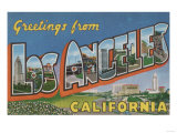 Los Angeles  California - Large Letter Scenes