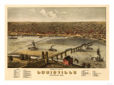 Louisville  Kentucky - Panoramic Map