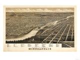 Minneapolis  Minnesota - Panoramic Map
