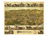 Needham Heights  Massachusetts - Panoramic Map