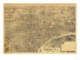 Newark  New Jersey - Panoramic Map