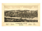Livermore Falls  Maine - Panoramic Map