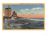 Long Beach  CA - Swimmers by Villa Riviera & Pacific Coast Club