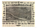 New Brunswick  New Jersey - Panoramic Map