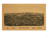 Rhinebeck  New York - Panoramic Map