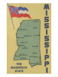 Mississippi - Detailed Map of State