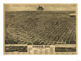 Lincoln  Nebraska - Panoramic Map