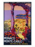 Monte Carlo  Monaco - Travel Promotional Poster
