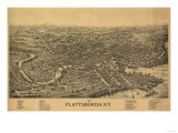 Plattsburgh  New York - Panoramic Map