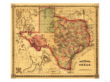 Texas - Panoramic Map