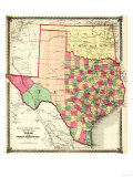 Texas and Indian Territory - Panoramic Map