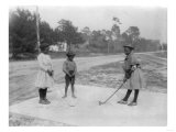 Black Children Playing Golf Photograph