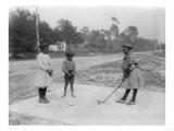 Black Children Playing Golf Photograph