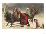 Christmas Greeting - Santa and Sleigh