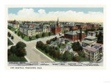 Worcester  Massachusetts - Aerial View of City Hospital