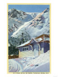 Tuckerman Ravine  NH - View of a US Forest Service Ski Shelter