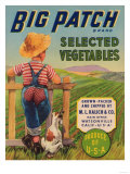 Big Patch Vegetable Label - Watsonville  CA