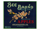 Bee Apple Crate Label - San Francisco  CA