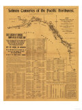 Salmon Canneries of the Pacific Northwest - Panoramic Map