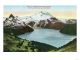 British Columbia  Canada - Aerial View of Lake Garibaldi and Mount Garibaldi