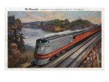 The Dells  Wisconsin - The Hiawatha Streamline Train