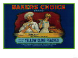Bakers Choice Peach Label - San Francisco  CA