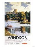 Windsor  England - British Railways Windsor Castle Thames Poster