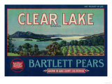 Clear Lake Pear Crate Label - Lake County  CA