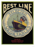 Best Line Vegetable Label - Fresno  CA