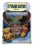 San Jose  California - Embarcadero Pear Label