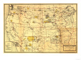 Indian Reservations West of the Mississippi - Panoramic Map