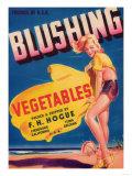Blushing Vegetable Label - Firebaugh  CA