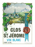 Clos St Jermoe Wine Label - Europe