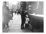 Children on a Chinatown Street NYC Photo - New York  NY