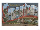 Sheboygan  Wisconsin - Large Letter Scenes