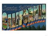 Santa Monica  California - Large Letter Scenes