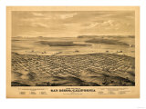 San Diego  California - Panoramic Map