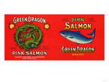 Green Dragon Brand Salmon Label - San Francisco  CA