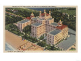 St Petersburg  Florida - Aerial of Don Ce-Sar Hotel