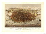 San Francisco  California - Panoramic Map No 4