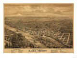 Oregon - Panoramic Map of Salem
