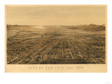 San Jose  California - Panoramic Map No 2
