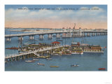 St Augustine  FL - View of Bridge of Lions & Ocean